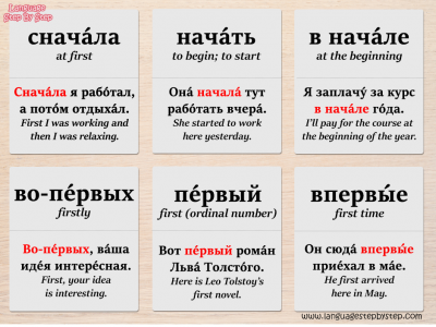 how to say first in russian